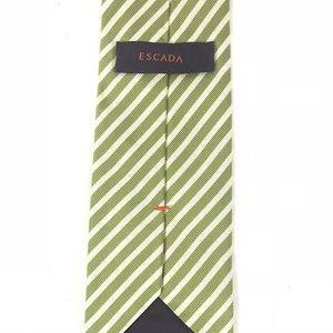 Escada Tie Necktie 100% Silk Green